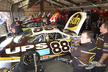 Working on the #88 UPS Ford