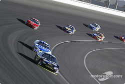 Brian Vickers leads Mark Martin and Kasey Kahne
