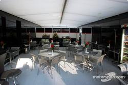 Minardi hospitality area
