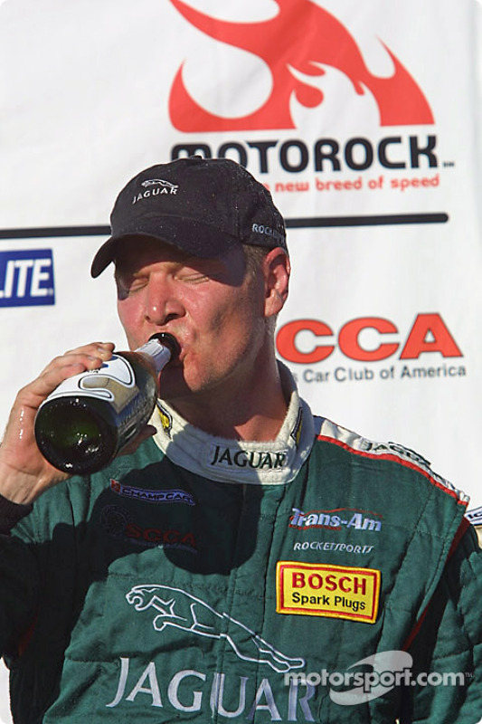 Podium: race winner Tommy Kendall