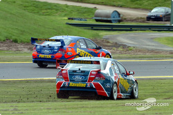 Russell Ingall runs wide at turn 1
