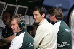 Mark Webber at pitwall