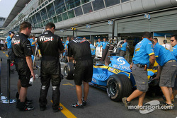 Pitstop practice at Renault F1