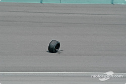 Lost wheel on the track