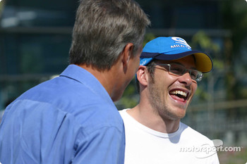 Craig Pollock and Jacques Villeneuve