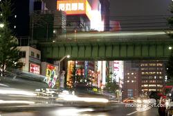 Tokyo traffic by night