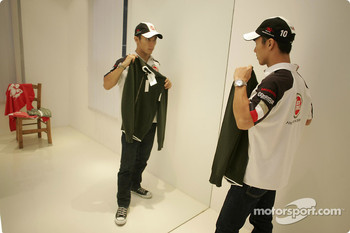 Takuma Sato goes shopping