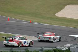 #01 CGR Grand Am Lexus Riley: Scott Pruett, Max Papis, #84 Acme Motorsport Porsche GT3 RS: Paul Mortimer, Tim McKenzie