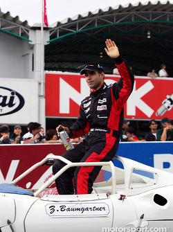 Drivers parade: Zsolt Baumgartner