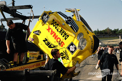 Wrecked car of Jarek Janis
