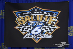 Mark Martin's salute to you press conference: the logo
