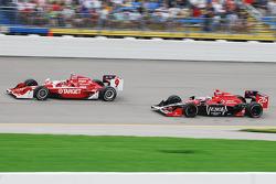 Scott Dixon, Target Chip Ganassi Racing and Marco Andretti, Andretti Autosport