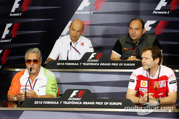 Vijay Mallya Force India F1 Team Owner, Pat Symonds, Renault F1 Team, Executive Director of Engineering, Colin Kolles, Hispania Racing Team, Team Principal HRT, Aldo Costa, Scuderia Ferrari,