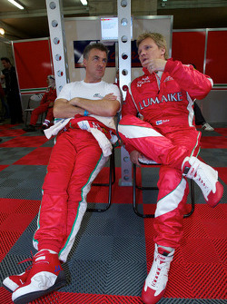 Jean Alesi and Mika Salo