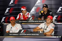 Lewis Hamilton, McLaren Mercedes, Fernando Alonso, Scuderia Ferrari, Mark Webber, Red Bull Racing, Jenson Button, McLaren Mercedes