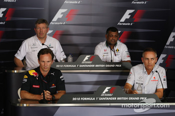 Ross Brawn Team Principal, Mercedes GP, Christian Horner, Red Bull Racing, Sporting Director, Tony Fernandes, Lotus F1 Team, Team Principal, Martin Whitmarsh, McLaren, Chief Executive Officer