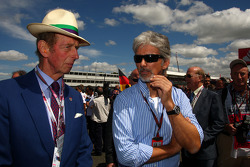 The Duke of Kent and Damon Hill Chairman of the BRDC