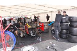 Dreyer & Reinbold Racing paddock area