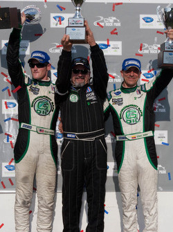 PC class podium: class winners Gunnar Jeannette and Elton Julian with Kevin Jeannette