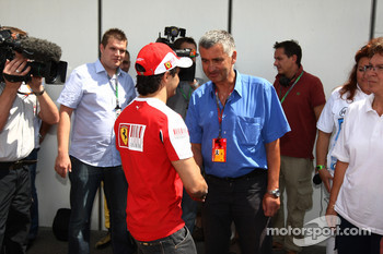 Felipe Massa, Scuderia Ferrari visits medical staff who helped him after his accident in 2009
