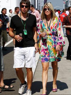 Isabell Reis girlfriend of Timo Glock, Virgin Racing