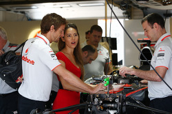 Jenson Button, McLaren Mercedes, Jessica Michibata girlfriend of Jenson Button