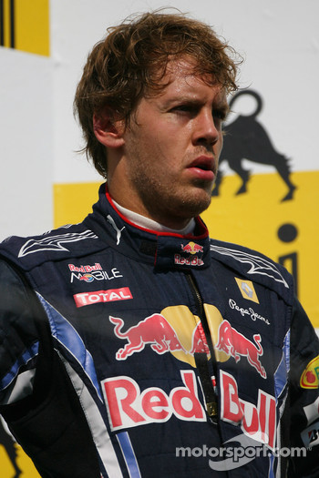 Podium: third place Sebastian Vettel, Red Bull Racing