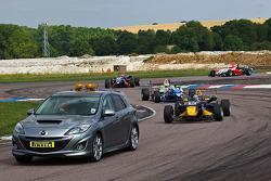 Jean-Eric Vergne follows the safety car