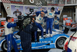Victory lane: race winners Scott Pruett and Memo Rojas