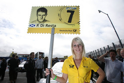 Grid girl of Paul di Resta, Team HWA AMG Mercedes C-Klasse
