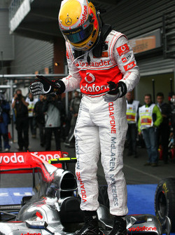 Race winner Lewis Hamilton, McLaren Mercedes
