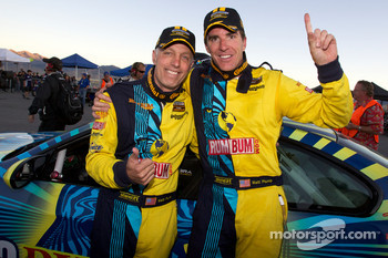 Race winners Nick Longhi  and Matt Plumb celebrate