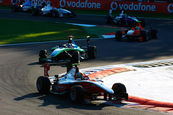 Esteban Gutierrez leads Robert Wickens and Rio Haryanto