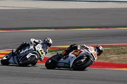Marco Melandri, San Carlo Honda Gresini and Randy De Puniet, LCR Honda MotoGP
