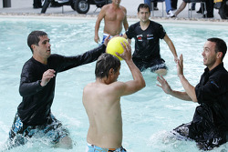 Water polo match in the paddock pool