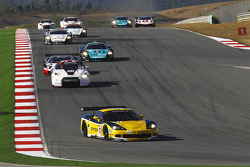 Start: #13 Phoenix Racing / Carsport Corvette Z06: Marc Hennerici, Alexandros Margaritis leads the field