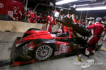 #95 Level 5 Motorsports Oreca FLM09: Scott Tucker, Marco Werner, Burt Frisselle in the pits