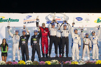 PC class podium: class winners Scott Tucker, Marco Werner and Burt Frisselle, second place Kyle Marcelli, David Ducote and Chapman Ducote, third place Ricardo Gonzalez, Luis Diaz and Ryan Lewis