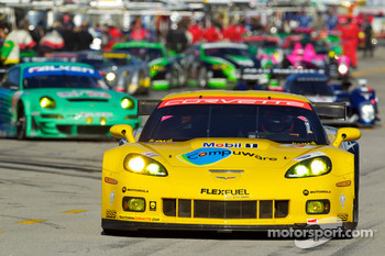 #3 Corvette Racing Chevrolet Corvette ZR1: Olivier Beretta, Johnny O'Connell, Antonio Garcia heads to recon lap