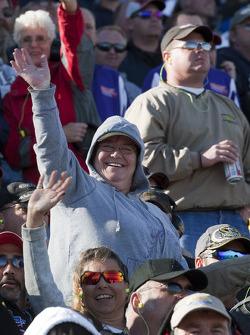 Fans cheer