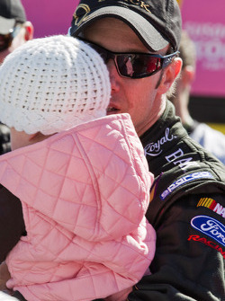 Matt Kenseth, Roush Fenway Racing Ford with his daughter Kaylin