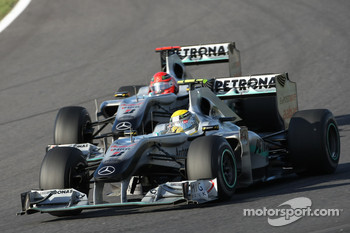 Both Schumacher and Rosberg had to retire