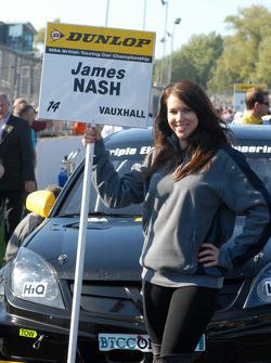 Sophie Fisher, grid girl to James Nash