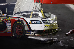 Damaged car of Sam Hornish Jr., Penske Racing Dodge