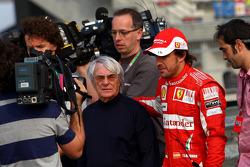 Bernie Ecclestone and Fernando Alonso, Scuderia Ferrari