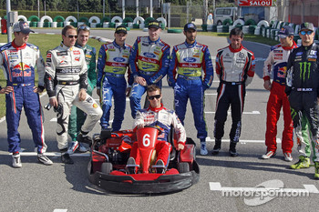 Rally Catalunya karting race: participating drivers