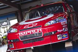 Car of Juan Pablo Montoya, Earnhardt Ganassi Racing Chevrolet at technical inspection
