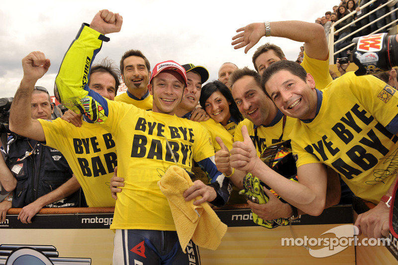 Third place Valentino Rossi, Fiat Yamaha Team