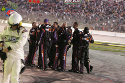 Joe Gibbs Racing Toyota crew celebrates the win