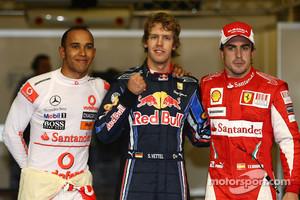 Lewis Hamilton, Sebastian Vettel, Fernando Alonso